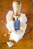 parmesan kawałki Obrazy Stock