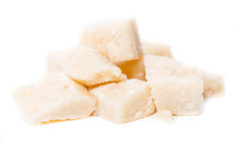 Parmesan over white Stock Photography