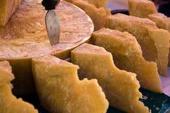 Parmesan pieces Stock Photos