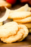 Parmesan shortbread biscuits Stock Images