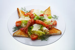 Parmesan shrimp salad Royalty Free Stock Photos