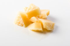 Parmesan. Small chunks for decoration Royalty Free Stock Image