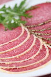 Parmesand and pepper crust salami Royalty Free Stock Photography