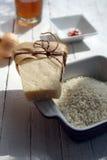 Parmesankäse und Reis Stockbilder