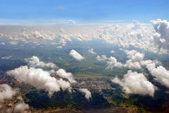 Parmi des nuages Photos stock