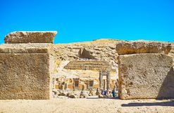 Parmi les pierres antiques de Persepolis, l'Iran Photographie stock