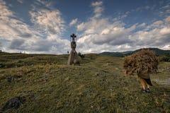 Parmi les statues de Negreia Images stock
