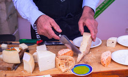 Parmiggiano, Italian cheeses Stock Photos