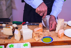 Parmiggiano, Italian cheeses Stock Photography