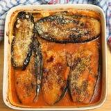 parmigiana γεύματος μελιτζάνας Στοκ φωτογραφία με δικαίωμα ελεύθερης χρήσης