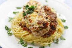parmigiana γεύματος στοκ εικόνα