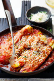 Parmigiana  from a celery. Style rustic. selective focus Royalty Free Stock Photo