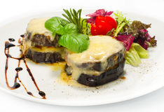 Parmigiana with cheese and tomato Royalty Free Stock Photography