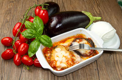 Parmigiana eggplant Stock Photos