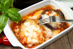 Parmigiana eggplant Stock Photography