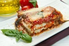 Parmigiana eggplant Stock Photo