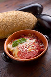 parmigiana eggplant on bowl Stock Image