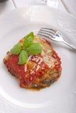 Parmigiana eggplant on dish Royalty Free Stock Photography