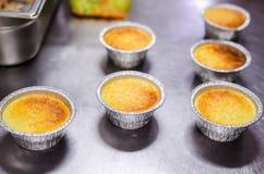 Parmigiana tarts. Savory tarts made with cream and parmigiana- sformato di parmigiana Royalty Free Stock Photo