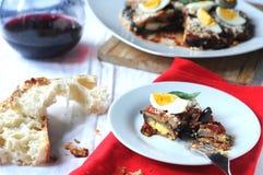Parmigiana a typical Italian dish Stock Photography