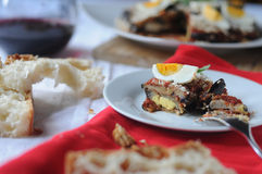 Parmigiana a typical Italian dish Royalty Free Stock Photos