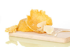 Parmigiano cheese basket. Royalty Free Stock Images