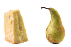 Parmigiano cheese and pear Royalty Free Stock Photography