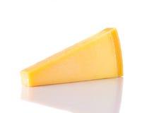 Parmigiano del parmigiano-Reggiano su bianco Immagini Stock Libere da Diritti