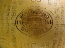 Parmigiano Reggiano artisan cheese mark Stock Images