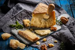 Parmigiano reggiano parmesan cheese stock photos
