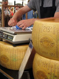 Parmigiano with scale Royalty Free Stock Images