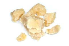 Parmigiano su fondo bianco Immagini Stock