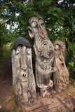 Three fabulous wooden sculpture stock images
