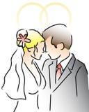 parmorder ringer bröllop Arkivbilder