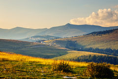 Parnag mountains in Romania. Landscape of Parnag mountains in Romania, Europe stock image
