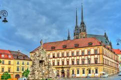 Parnas Fountain on Zerny trh square in the old town of Brno, Czech Republic. Parnas Fountain on Zerny trh square in the old town of Brno - Moravia, Czech Stock Photo