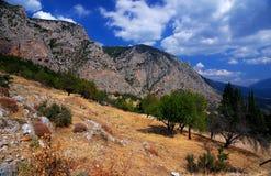 parnassus гор delphi Греции стоковая фотография rf