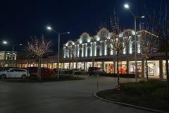 Parndorf在晚上Austria12 免版税库存图片