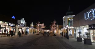 Parndorf на ноче Austria11 стоковое фото