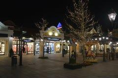 Parndorf на ноче Austria17 стоковая фотография rf