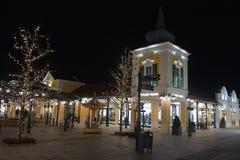 Parndorf на ноче Austria16 стоковое изображение