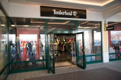 Timberland store in Parndorf, Austria. stock photography