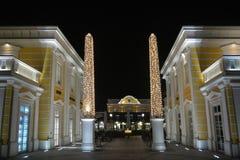 Parndorf bij de nacht Austria2 royalty-vrije stock afbeelding