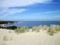 Parnidis dune and Nida town, Lithuania Royalty Free Stock Image