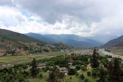 Paro谷在不丹 免版税图库摄影