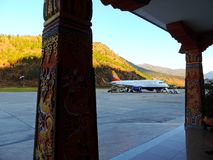Paro Airport, Bhutan stock photos