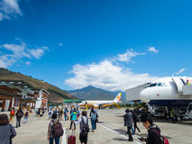 Paro Airport in Bhutan Royalty Free Stock Images