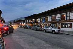 Paro Of Bhutan. The most beautiful of all Bhutan's valleys, Paro is yet another example of unmanned beauty of Bhutan. With the only airport of Bhutan, Paro is Stock Photography