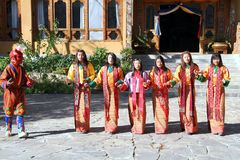 PARO, BHUTAN - November10, 2012 : Unidentified young singers and