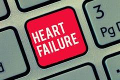 Paro cardíaco del texto de la escritura de la palabra Concepto del negocio para el fracaso del corazón para funcionar incapaz bie foto de archivo